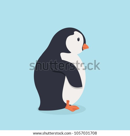 penguin bird  cartoon vector