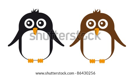 penguin cartoon isolated over white background. vector