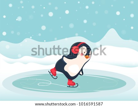 penguin cartoon penguin ice