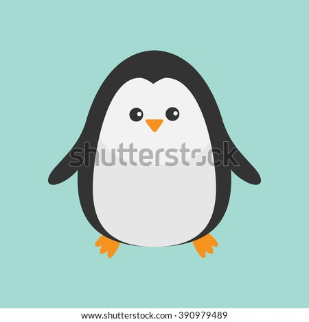 penguin cute cartoon character