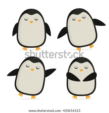 penguin cute vector