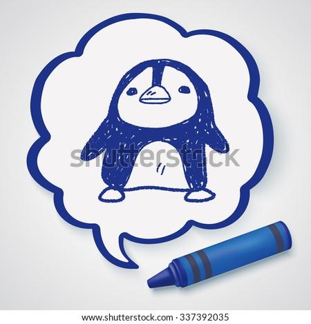 penguin doodle