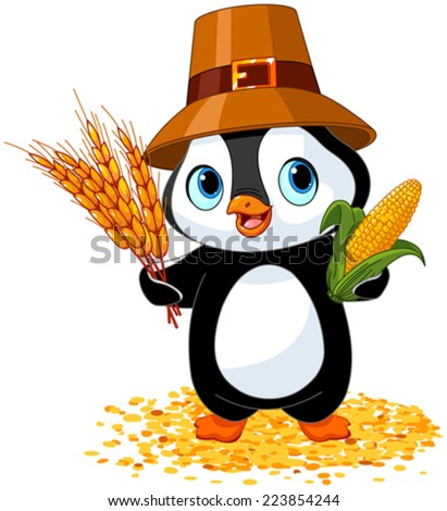 stock-vector-penguin-farmer-holds-corn-and-wheat