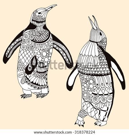 penguin pair illustration