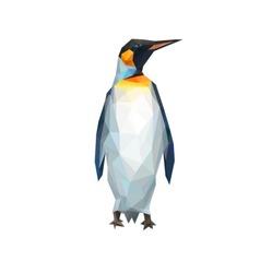 penguin polygons illustration
