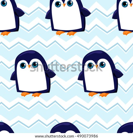 penguin seamless, background with penguins