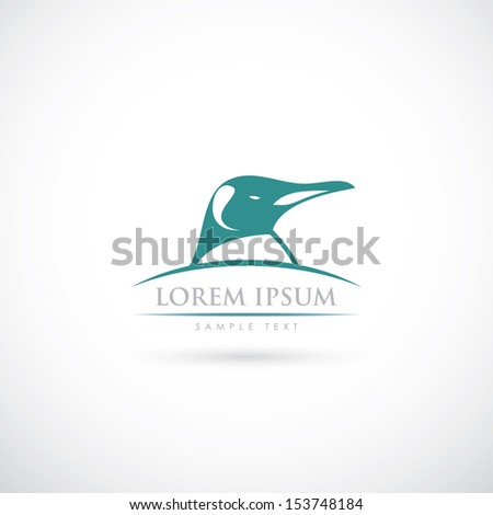 Penguin sign - vector illustration