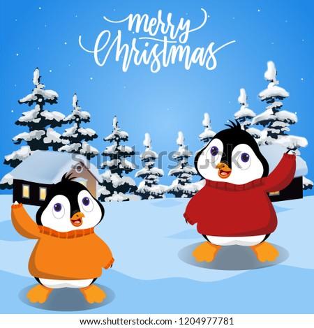 Penguin Wearing Sweater #1204977781