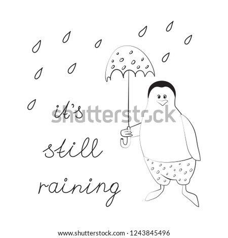 penguin with an umbrella in the