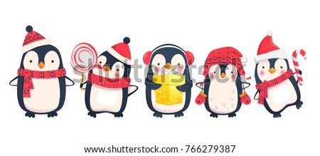 penguins cartoon vector