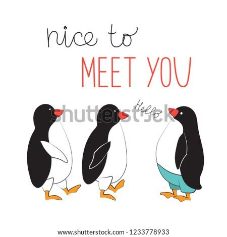 penguins meet the typographic