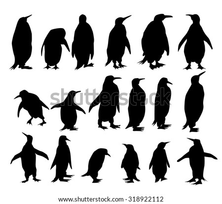 penguin silhouette - download free vector art, stock graphics & images