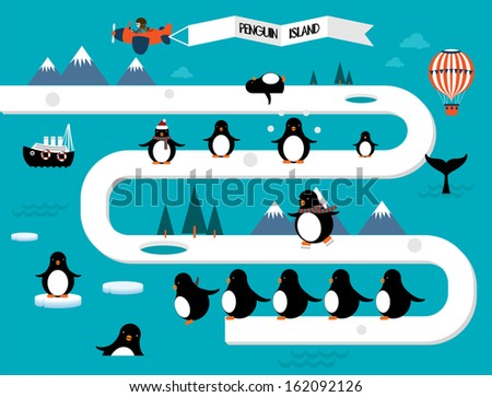 penguins vector illustration