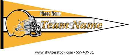 pennant Football team Yellow