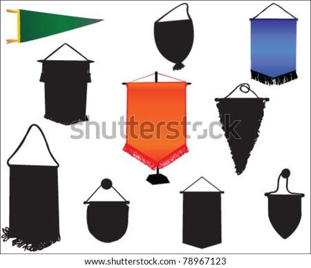 pennants vector