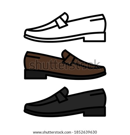 Penny loafer shoes vector icon isolated on white background Stock fotó ©