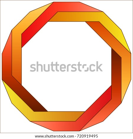 Penrose octagon stock photo