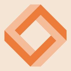 Penrose square, impossible square, optical illusion
