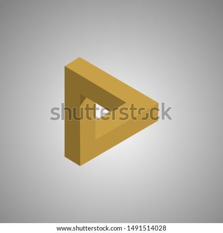 penrose triangle infinite triangle Yellow