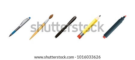 Pens icon set. Cartoon set of pens vector icons for web design isolated on white background