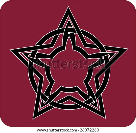stock vector : pentacle - t-shirt, tattoo design
