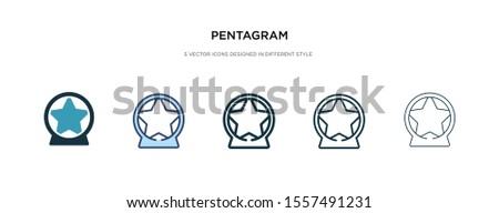 pentagram icon in different style vector illustration. two colored and black pentagram vector icons designed in filled, outline, line and stroke style can be used for web, mobile, ui