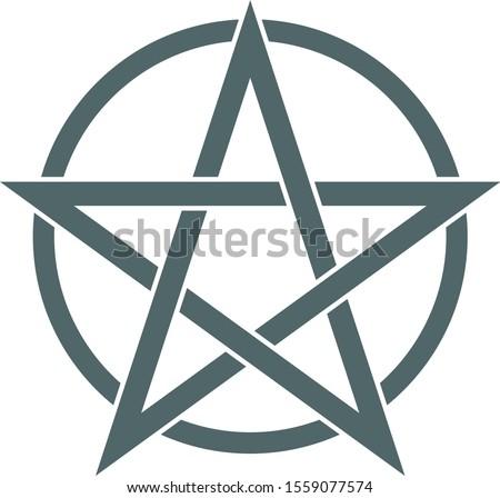 Pentagram icon. Pentagram symbol. Vector illustration