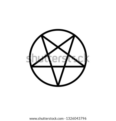 Pentagram icon vector. Pentagram vector design. sign design. flat style. Vector EPS 10