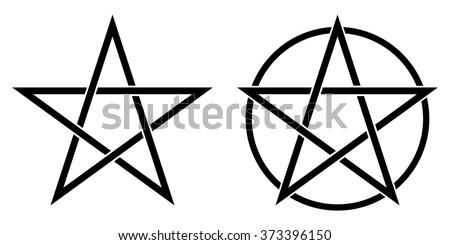 pentagram symbol  and pentagram