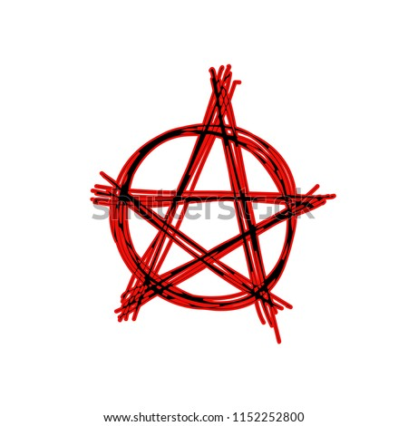 Pentagram vector icon