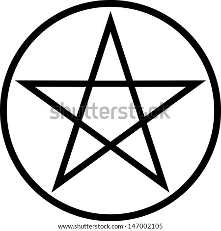 pentagram vector icon isolated