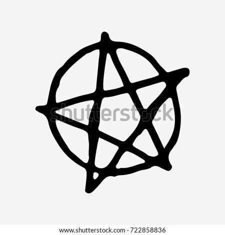 Pentagram vector icon isolated on white background. Pentagram icon. Stock vector illustration