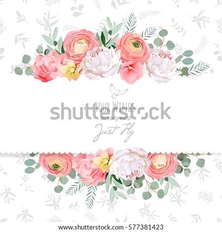 peony  rose  ranunculus  pink