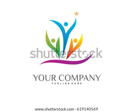 People Ambition Logo Template Design