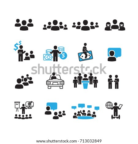 People and Business icons set,Vector