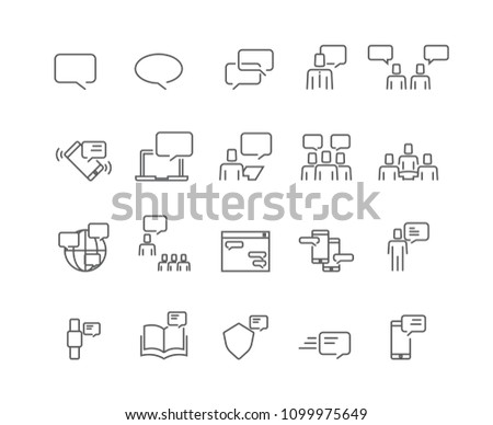 People and communication icons set,Vector