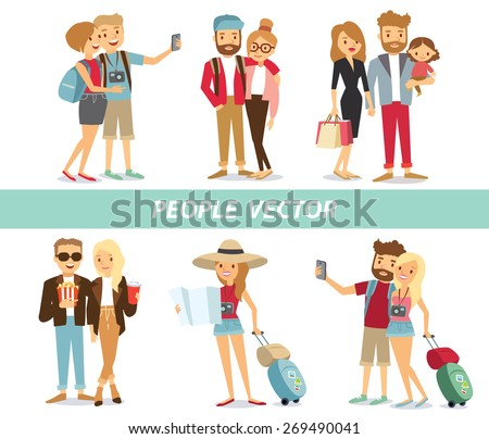 Shutterstock people and couples travelling and having a rest