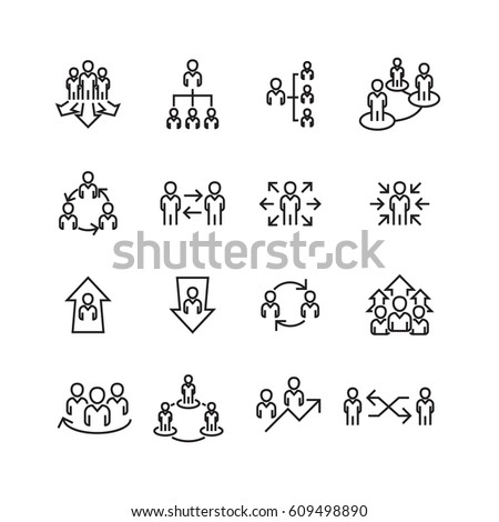 people and meeting diagram set icons,Vector