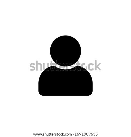 People and person icon. people icon with modern flat design. People vector icon isolated on white background