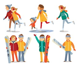 people and winter sport