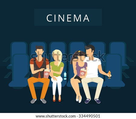 people are watching film in the