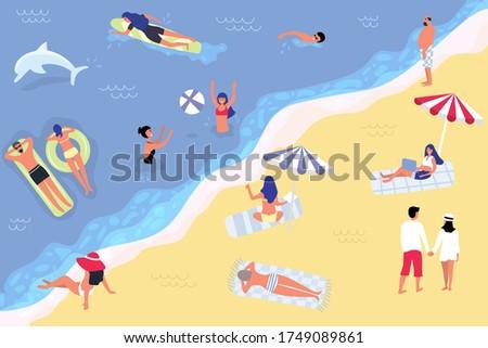 people at beach or seashore