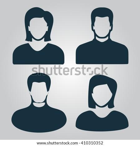 People avatar Icon Vector.