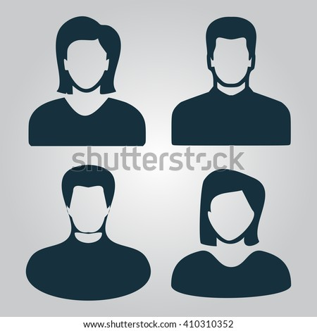 People avatar Icon Vector. Perfect pictogram illustration
