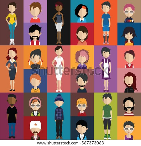 People avatar ( with full body and torso variations)