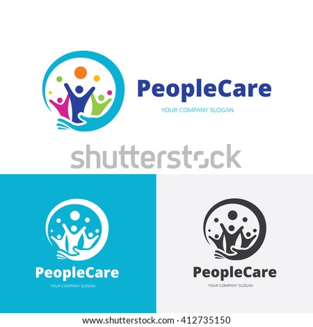 People Care logo.people logo,vector logo template