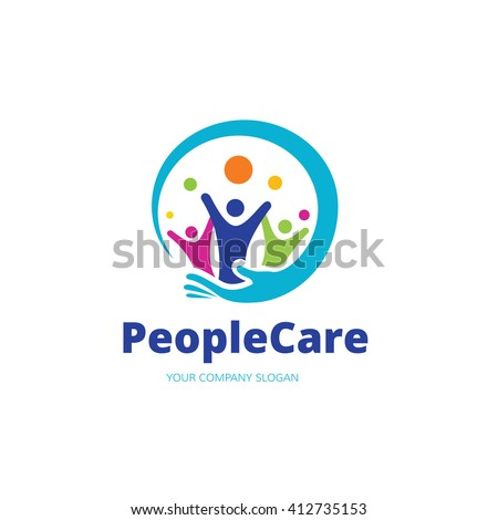 People Care Logo Template #412735153