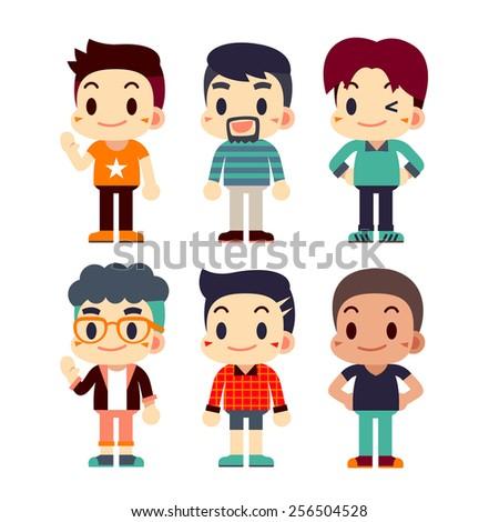 people character   guys set