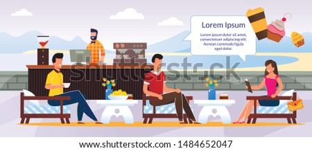 people characters rest at