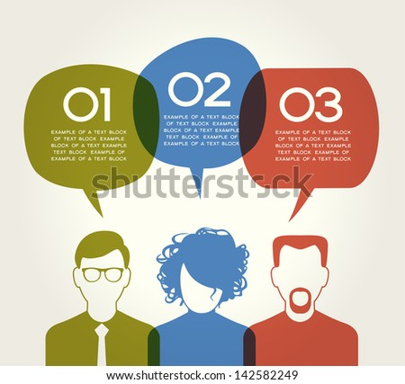 People Chatting. Vector illustration of a communication concept, relating to feedback, reviews and discussion. The file is saved in the version AI10 EPS. This image contains transparency - stock vector